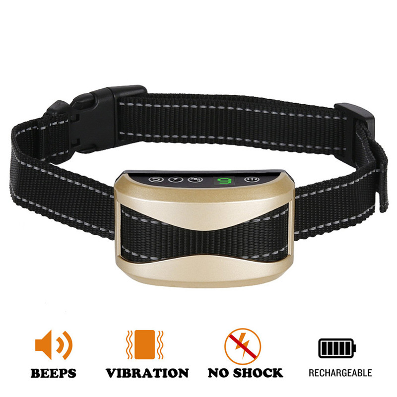Dog Training Collar Waterproof Anti Bark Control Collar/USB Charging LCD Display Dog Bark Stop Collar