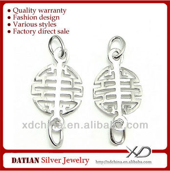 XD P313 925 sterling silver Chinese character earring findings earring on sale