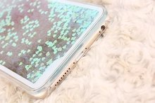 Liquid Glitter Sand Quicksand Heart Case For iphone 5 5S 5C 6 7 and for samsung Crystal Clear Hard Cellphone Back Cover