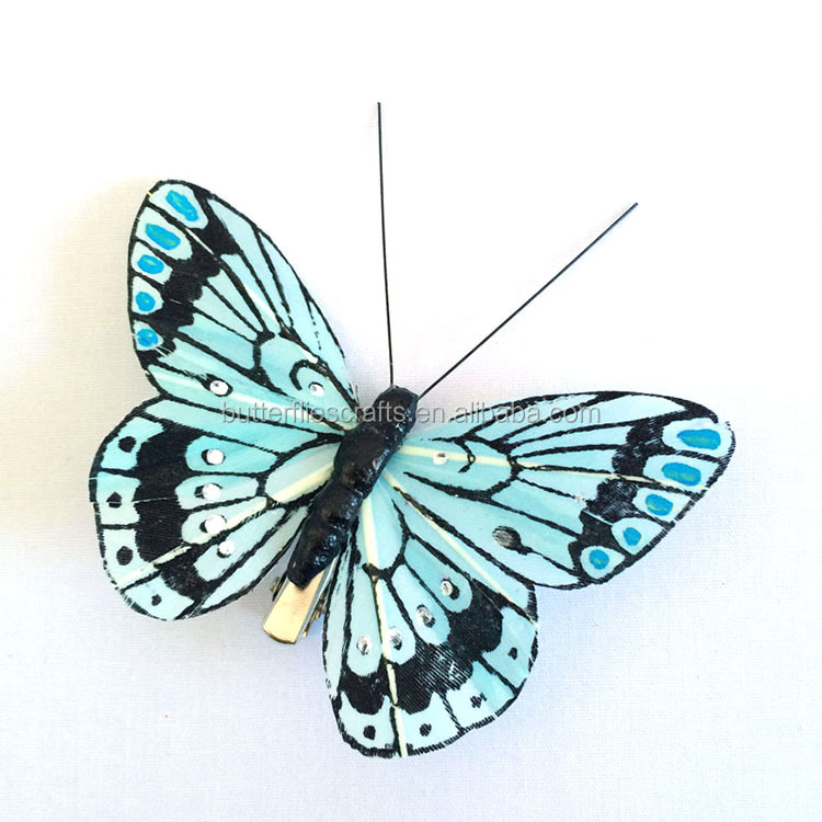 Brightly colored Artificial butterfly for wedding decorations