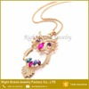 Wholesale Gold Plated Rhinestone Crystal Jewelry Owl Necklace Pendants