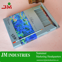 72 color wholesale school stationery set 7100 Marco oil colored pencils with cardboard for painting