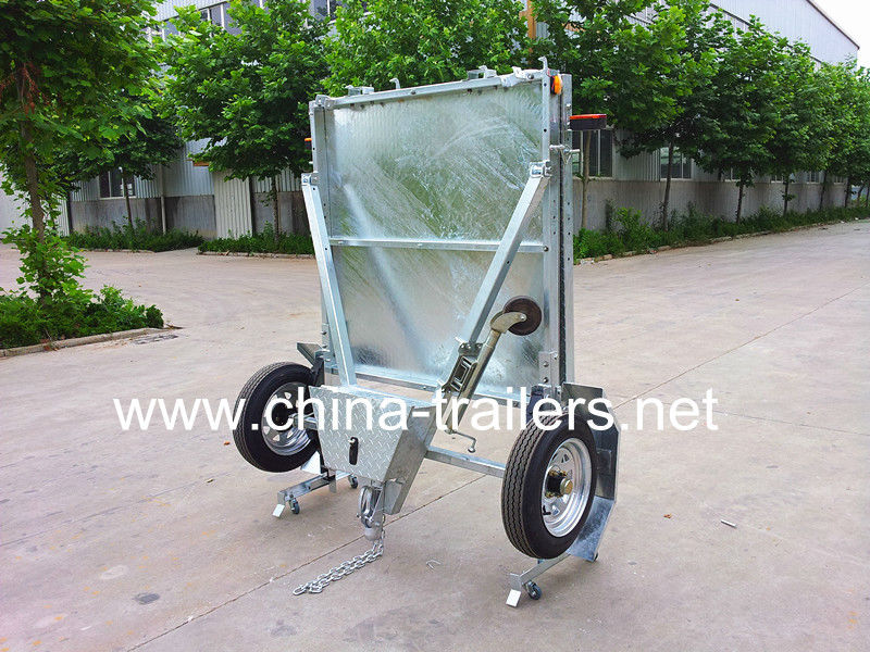 Galvanized Foldable Utility Box Trailer