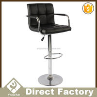 Swiveling professional design french bistro chairs with leather seat