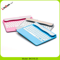 Rotatable Wireless Bluetooth Keyboard With Stand Case for ipad air 2 keyboard