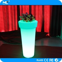 Plastic plant pots/led flower pot/solar flower pot light for outdoor
