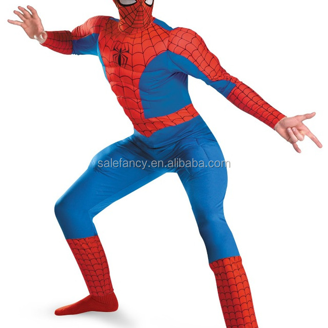 muscle chest adult spiderman costume QAMC-8596