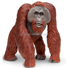 Making Orangutan Wild Animals Plastic Figurines/Custom Plastic Gorilla Chimpanzee Simulation wild Animals Toys