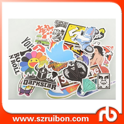 Die cut Vintage Vinyl Sticker Graffiti Laptop Luggage Car Bike Bicycle Skateboard Decals mix