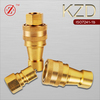 KZD brass steam line female hydraulic quick release coupling