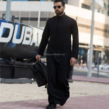 Jubah Lelaki Moden Elrah Exclusive Abaya Robe Daffah Dishdasha Islamic Arabian clothing dress Men Saudi Style Thobe