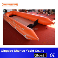 32ft alumium floor inflatable boat inflatable rescue boat for sale