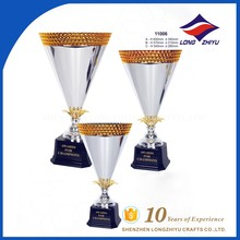 Plastic silver trophy cup wholesale medals/medallion and trophies manufacture