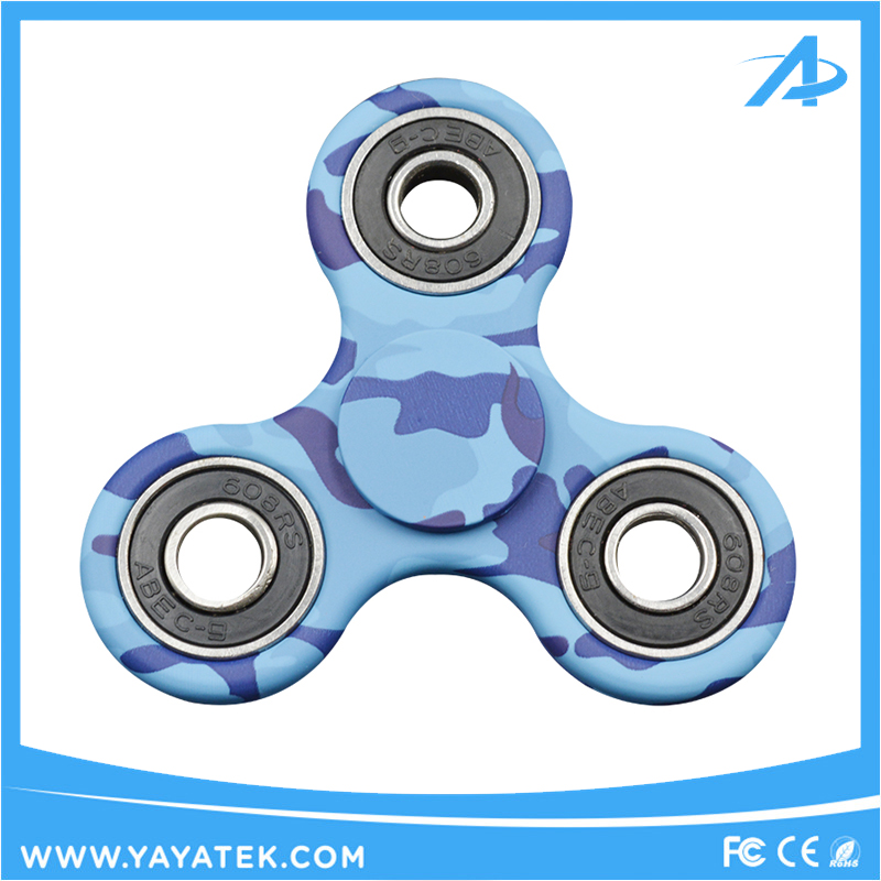 New Design Customized Patterned High Speed Stainless Steel Bearing Fidget Spinner with Water Transfer Print