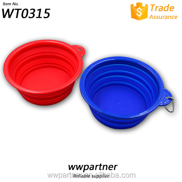 Collapsible Silicone Dog Cat Food Water Bowl Pet Food Bowl