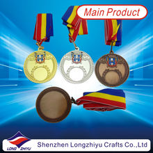 Russia Complex 3D medal zinc alloy with custom design blank metal medals cwith leaves border 3d design competition blank medals