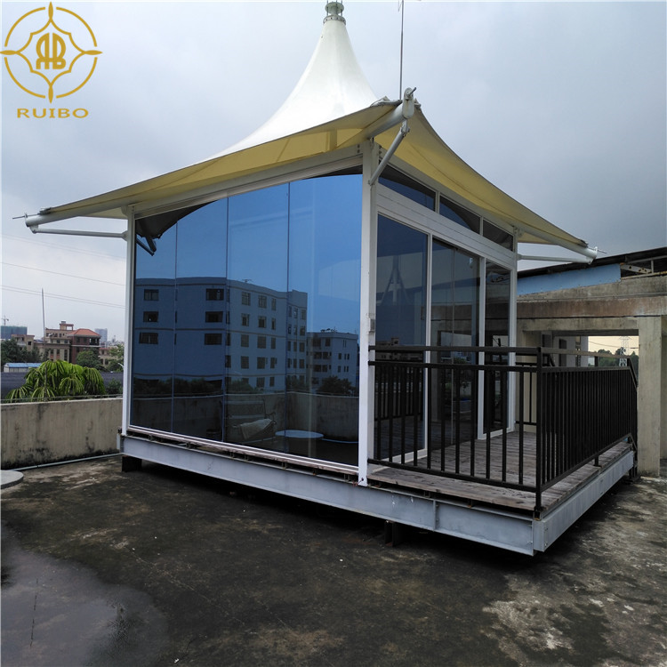 Elegant Metal Frame Parasol Tent Shed Hotel Used Fabric Buildings House