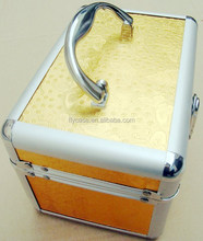 Aluminum frame PU leather make up box ,cosmetic case,beauty case with mirror and plate inside