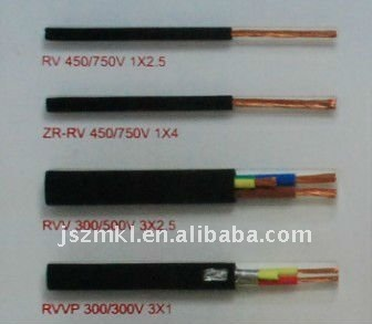 Copper conductor light PVC insulation and sheath electrical wire