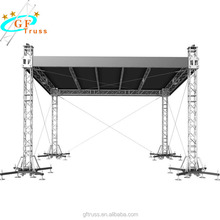 Aluminum easy install cheap small concert sound and lighting DJ system stage truss
