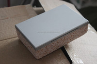sandwich panels building material imitation marble baseboard XPS EPS Rock wool and PU as insulation used in out wall
