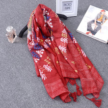 ladies vintage plain red satin cotton scarves for promotional