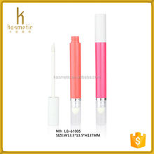 Make your own double ended empty lip gloss tube pen lipgloss cosmetic packaging