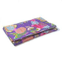 Kantha Throw Tropicana Dahlia Purple