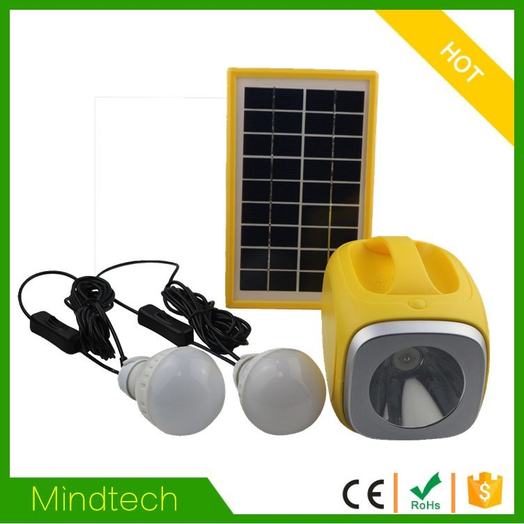 mindtech 60w solar power system home with TV fan for Africa