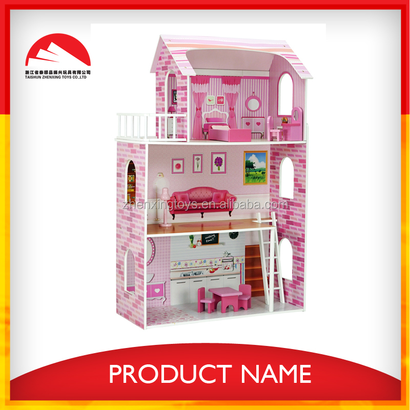 exported to USA kids wooden mini doll play house