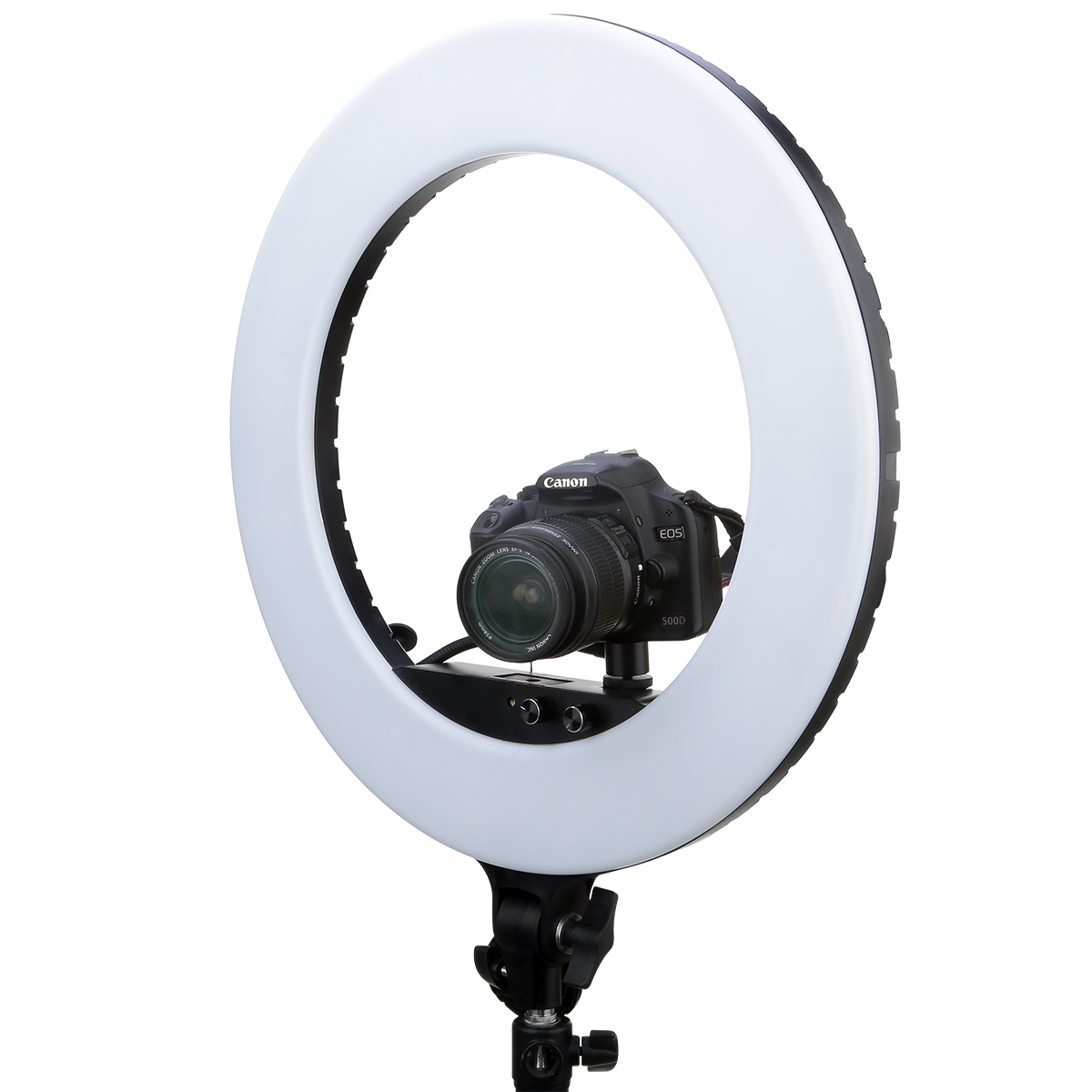 "98W NiceFoto18""  LED Ring Light Dimmable Diva Diffuser mirror Stand Make Up Studio lighting 3200-5800K"