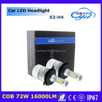 S2 cob high quality chip 36w 4000lm 12v 24v h1 h3 h4 h7 h8/9 h11 h4 h13 9004 9005 9006 9007 high low beam s2 car led headlight