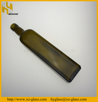 750ml Amber square shape olive oil glass bottle wholesale