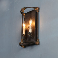 hot sell decorative candle wall sconces,iron bedroom wall lamp with UL/CE