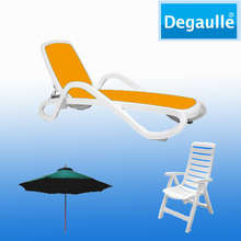 Degaulle Patio Furniture Folding Reclining Beach Chair