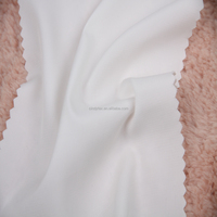 plain dyed fake silk white polyester chiffon fabric