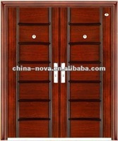 Chinese steel security double exterior doors with hardware