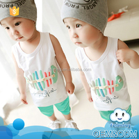 China suppliers wholesale 2016 latest design korean summer children clothing cool brand boys matching childrens clothing sets