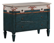 Special hand painted solid wood living room side cabinet