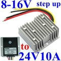 dc voltage regulator 8-16V 9V 12V 13.8V 11V step up to 24V 10A 240W boost power converter power supply module waterproof for led