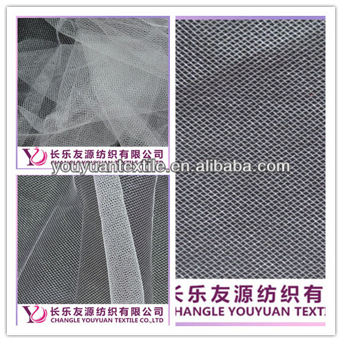 White drapery tulle mesh fabric of decoration in China