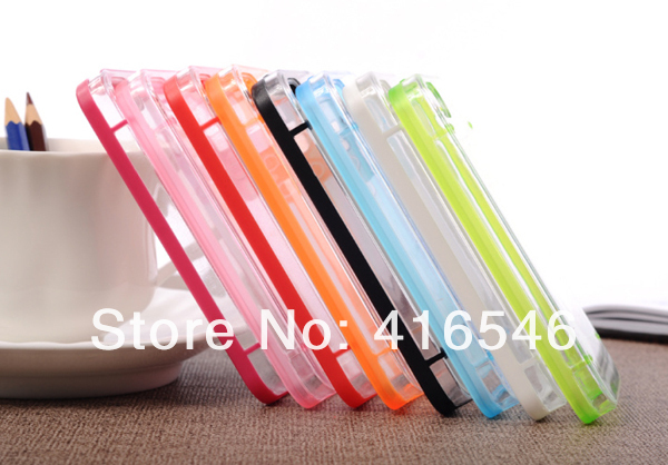 Ultra-Thin Glossy Luminous Glow Bumper Hard PC Case Cover Shell for iPhone 4 4G 4S Back Cover