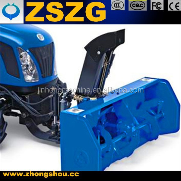 Tractor front loader snow blower