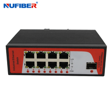 Lowest price 8 ports Gigabit Industrial Optical Fiber Ethernet Switch