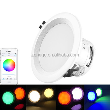 2G/3G/4G internet remote controlled wifi rgbw led downlight