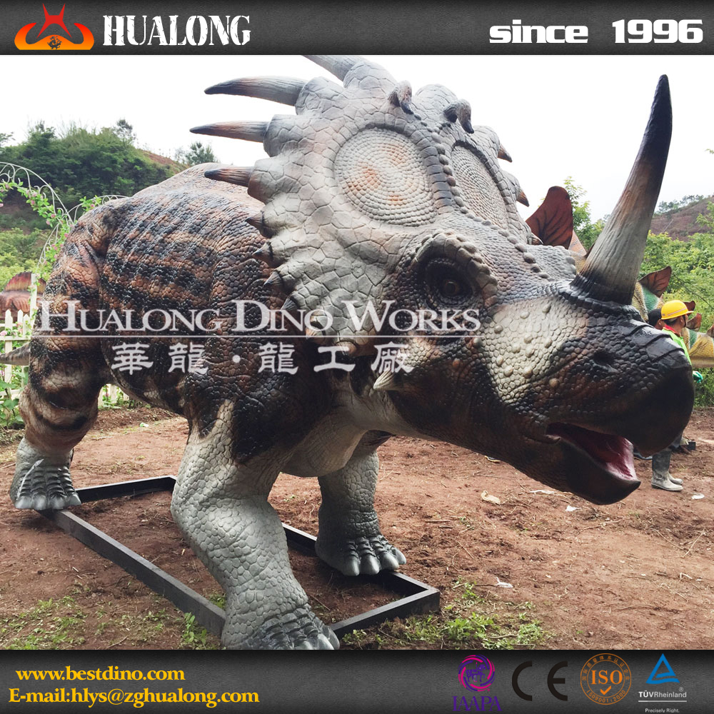 Outdoor Playground Equipment Lifesize Animatronics Dinosaur Puppet