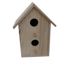 Small Bird House Unfinished Bird House with wooden for bird/dog