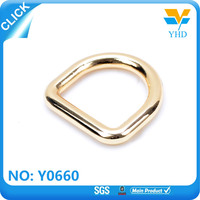 gold travel bag metal D ring bag accessory
