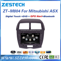factory selling touch screen car radio for Mitsubishi ASX automotives parts with reverse camera bluetooth am/fm Multi languages