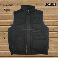 TC canvas fishing vest with printing fleece lining